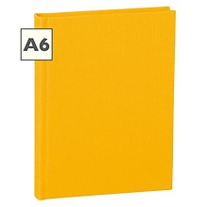 Notizbuch Classic (A6) liniert, Buchleinenbezug, 144 Seiten, sun