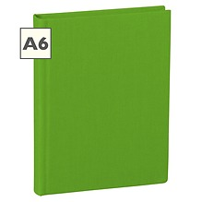 Notizbuch Classic (A6) liniert, Buchleinenbezug, 160 Seiten, lime