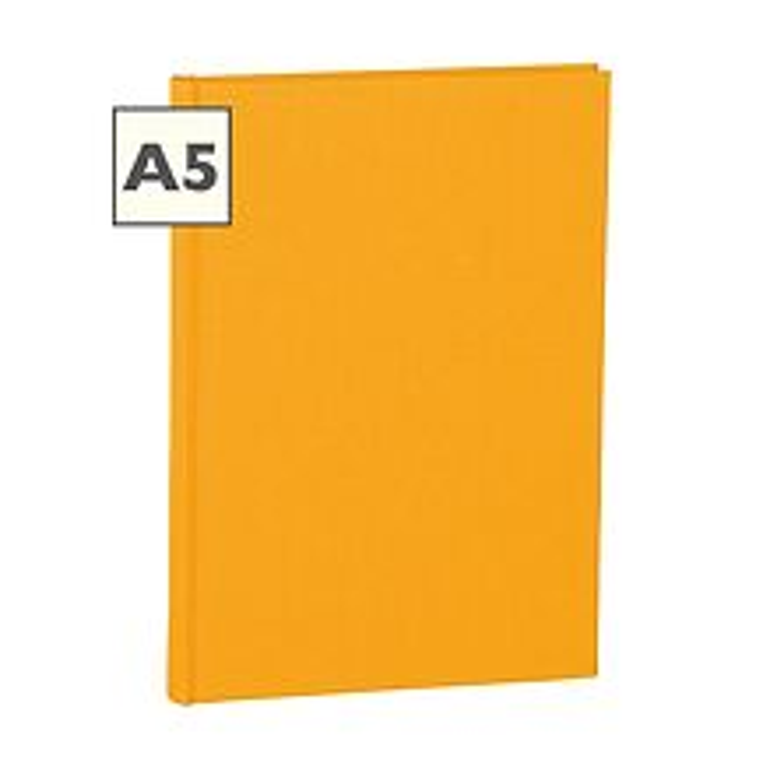 Notizbuch Classic (A5) liniert, Buchleinenbezug, 160 Seiten, sun