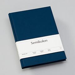 Notizbuch Classic (A5) liniert, Buchleinenbezug, 144 Seiten, marine
