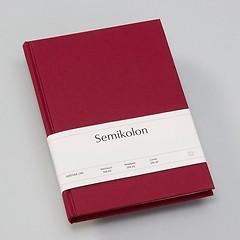 Notizbuch Classic (A5) liniert, Buchleinenbezug, 160 Seiten, burgundy