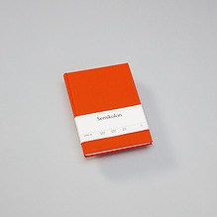 Notizbuch Classic (A5) liniert, Buchleinenbezug, 144 Seiten, orange
