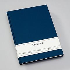 Notizbuch Classic (A4) Buchleinenbezug, 160 Seiten, liniert, marine