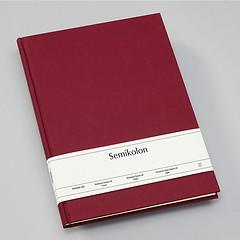 Notizbuch Classic (A4) Buchleinenbezug, 160 Seiten, liniert, burgundy