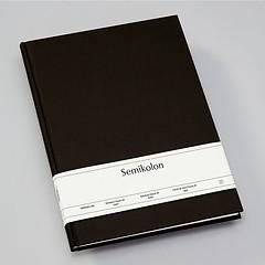 Notizbuch Classic (A4) Buchleinenbezug, 160 Seiten, liniert, black