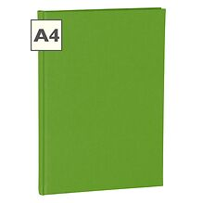 Notizbuch Classic (A4) Buchleinenbezug, 160 Seiten, liniert, lime
