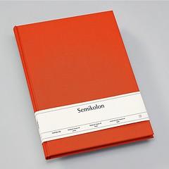 Notizbuch Classic (A4) Buchleinenbezug, 160 Seiten, liniert, orange