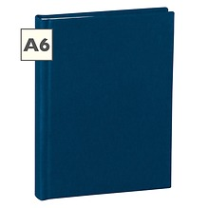 Notizbuch Classic (A6) blanko, Buchleinenbezug, 160 Seiten,marine