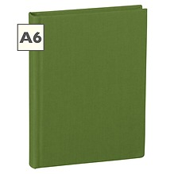 Notizbuch Classic (A6) blanko, Buchleinenbezug, 144 Seiten, irish