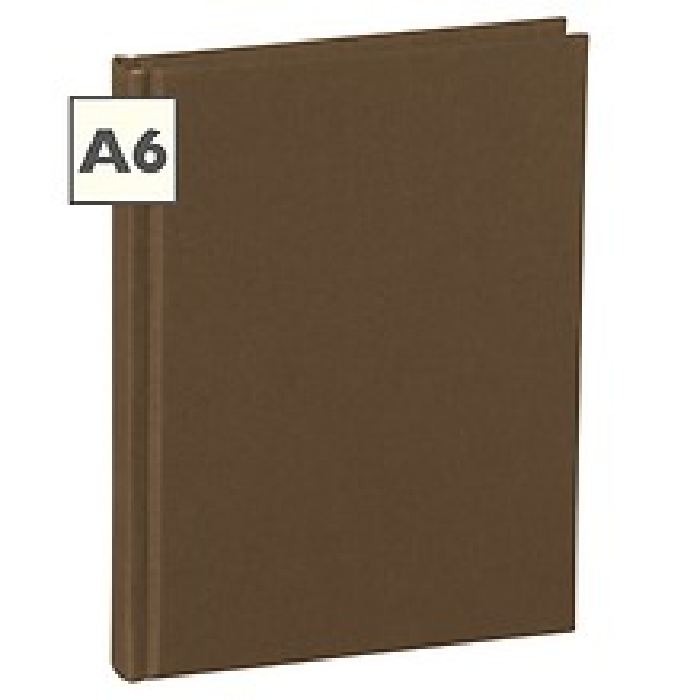 Notizbuch Classic (A6) blanko, Buchleinenbezug, 144 Seiten, brown
