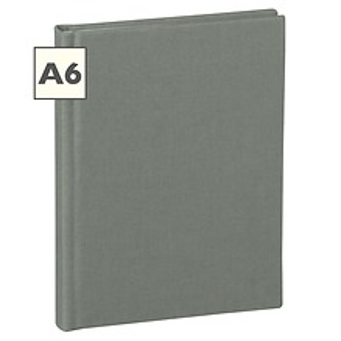 Notizbuch Classic (A6) blanko, Buchleinenbezug, 144 Seiten,grey