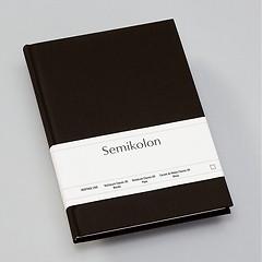 Notizbuch Classic (A5) blanko, Buchleinenbezug, 144 Seiten,black