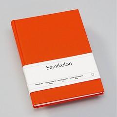 Notizbuch Classic (A5) blanko, Buchleinenbezug, 144 Seiten, orange