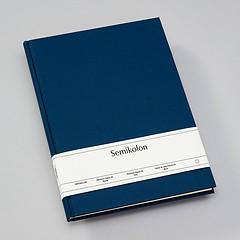 Notizbuch Classic (A4) blanko, Buchleinenbezug, 160 Seiten,marine