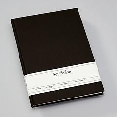 Notizbuch Classic (A4) blanko, Buchleinenbezug, 160 Seiten,black