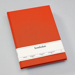 Notizbuch Classic (A4) blanko, Buchleinenbezug, 160 Seiten,orange