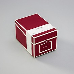 CD- & Photobox mit 5 variablen Registerkarten, burgundy