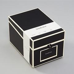 CD- & Photobox mit 5 variablen Registerkarten, black