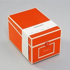 CD- & Photobox mit 5 variablen Registerkarten, orange