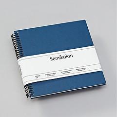 Piccolino Spiralalbum, 20 cremeweiße Seiten, Efalinbezug, marine