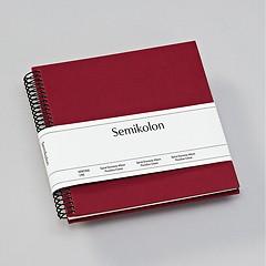 Piccolino Spiralalbum, 20 cremeweiße Seiten, Efalinbezug, burgundy