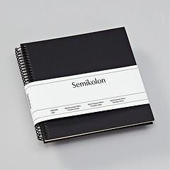 Piccolino Spiralalbum, 20 cremeweiße Seiten, Efalinbezug, black