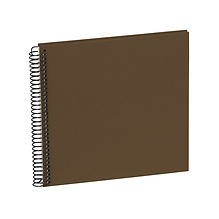 Piccolino Spiralalbum, 20 cremeweiße Seiten, Efalinbezug, brown