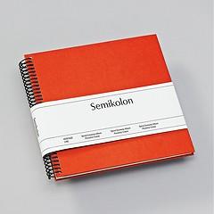 Piccolino Spiralalbum, 20 cremeweiße Seiten, Efalinbezug, orange