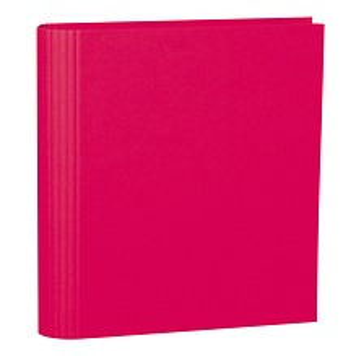 Fotoordner 4-Ring, erweiterbar, Efalinbezug, pink