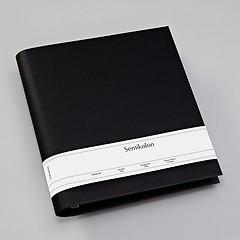 Fotoordner 4-Ring, erweiterbar, Efalinbezug, black