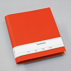 Fotoordner 4-Ring, erweiterbar, Efalinbezug, orange