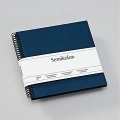 Piccolino Spiralalbum, 20 schwarze Seiten, Efalinbezug, marine