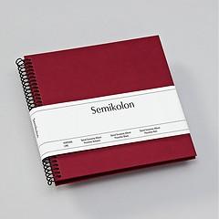 Piccolino Spiralalbum, 20 schwarze Seiten, Efalinbezug, burgundy