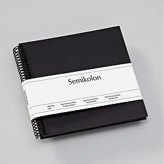 Piccolino Spiralalbum, 20 schwarze Seiten, Efalinbezug, black