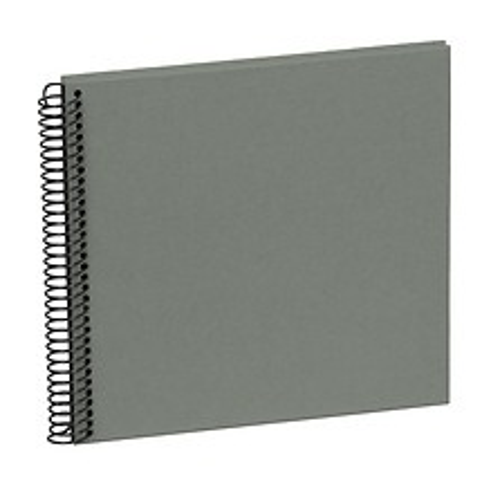 Piccolino Spiralalbum, 20 schwarze Seiten, Efalinbezug, grey