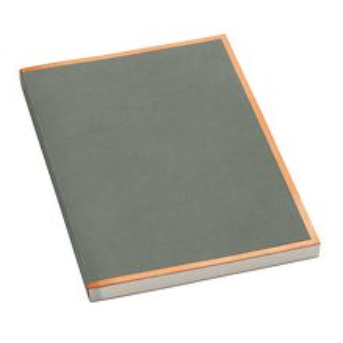 Notizbuch A4 Kupferkante Greye, 100 S. cremef. 100g/m² Papier, perforierte Seiten