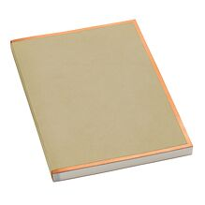Notizbuch A4 Kupferkante Chamois, 100 S. cremef. 100g/m² Papier, perforierte Seiten