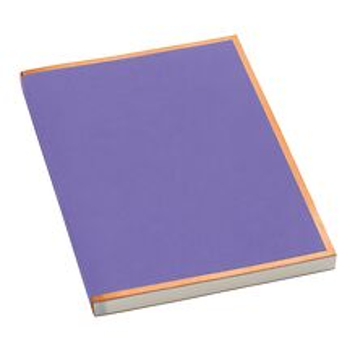 Notizbuch A4 Kupferkante Plum, 100 Seiten cremef. 100g/m² Papier, perforierte Seiten