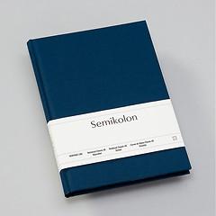Notizbuch Classic (A5) dotted, Buchleinenbezug, 144 Seiten, marine