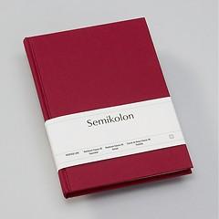 Notizbuch Classic (A5) dotted, Buchleinenbezug, 144 Seiten, burgundy