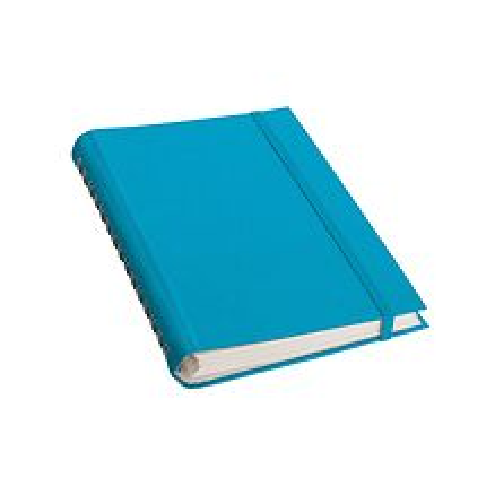 Spiralnotizbuch Interno (A5), feinkariert, Efalineinband, 200 Seiten, turquoise