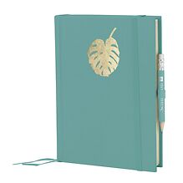 Grand Voyage Monstera Goldprägung, blanko, büttengeprägtes Papier, 272 Seiten, acquaverde