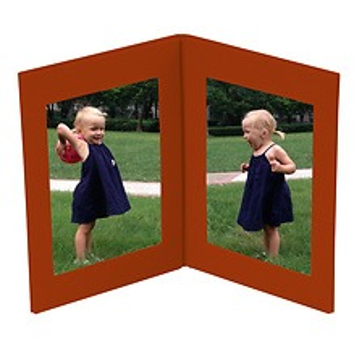 Bilderrahmen Doppio, für Fotos bis 11x15cm, siena