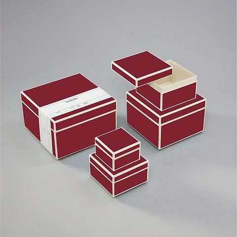 5er Schachtelsatz, burgundy