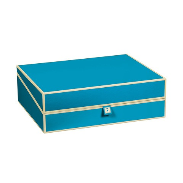 Dokumentenbox A4, turquoise