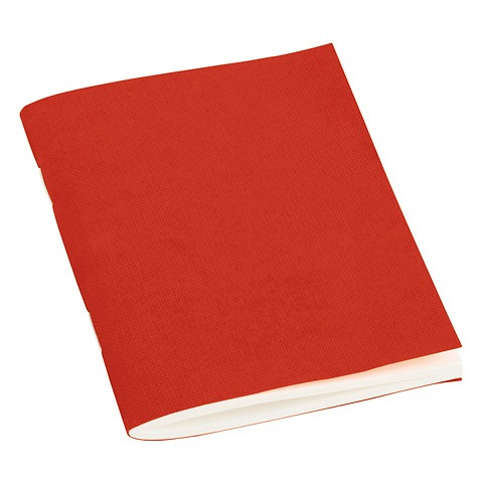 Filigrane Heft (A7) büttengeprägt, 64 Seiten, blanko, red