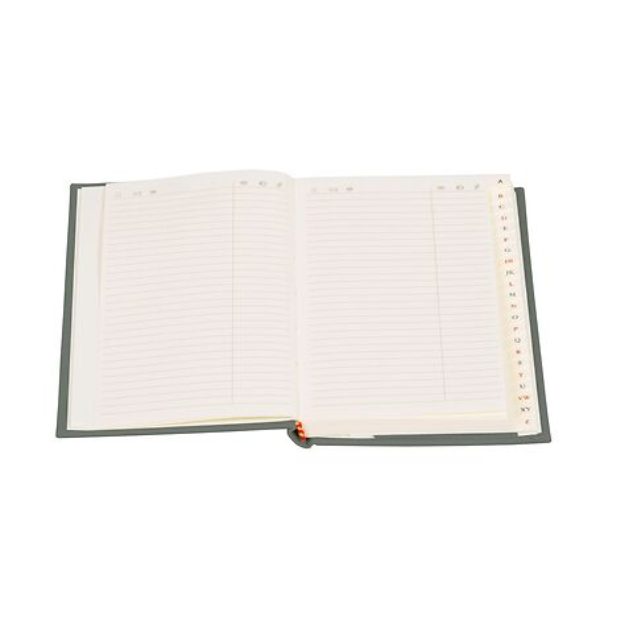 Adressbuch Medium mit Buchleinenbezug