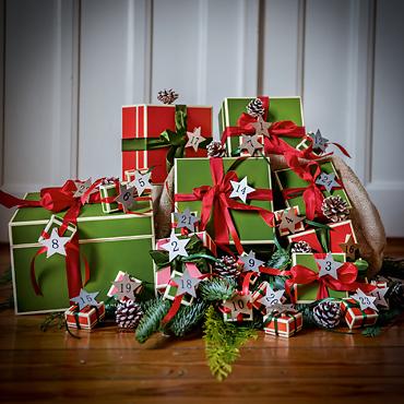 Schöne Schachteln zu Weihnachten
